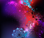 Purple background Holi Stock Image