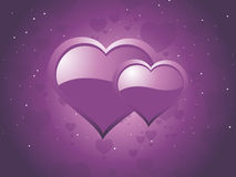 Purple background illustration Stock Images