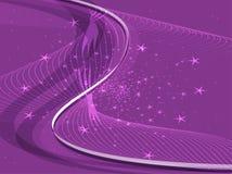 Purple Background light wave Stock Photos