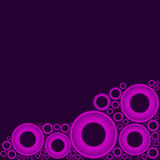 Purple Background with Pink Circles at Bottom Royalty Free Stock Photo