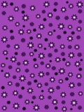 Purple background with purple flowers Royalty Free Stock Photography