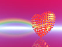 Purple background with a rainbow Stock Photo