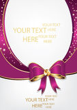 Purple background with ribbon, for any occasion. Print colors used. Royalty Free Stock Photo