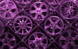 Purple background of rims Royalty Free Stock Images