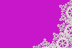 Purple Background with Snowflakes Stock Photo