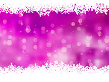 Purple background with snowflakes. EPS 8 Stock Image