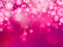 Purple background with snowflakes. EPS 8 Royalty Free Stock Image