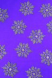 Purple background with snowflakes Royalty Free Stock Image