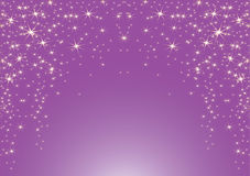 Purple background with stars. Royalty Free Stock Photo