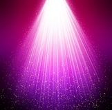 Purple background stars and rays Stock Images