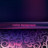 Purple  background with swirls and patterns, Stock Photography