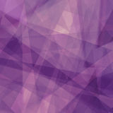Purple background with triangle shapes in abstract pattern and lines Stock Image