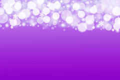 The purple background with white balls and snowflakes Royalty Free Stock Images