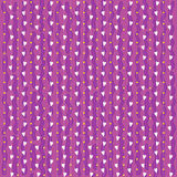 Purple background with white hearts Stock Photo
