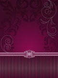 Purple Background With Ornament Royalty Free Stock Images