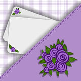 Purple background for your notes Royalty Free Stock Images