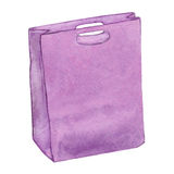 Purple bag. Royalty Free Stock Photography