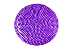 Purple balance cushion for fitness and yoga Royalty Free Stock Photo
