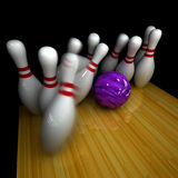 Purple ball does strike! Royalty Free Stock Images
