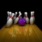 Purple ball does strike! Stock Image