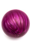 Purple ball game in bowling Stock Photo