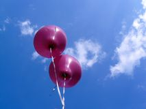 Purple ballons Royalty Free Stock Image