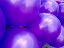 Purple balloons Royalty Free Stock Photography