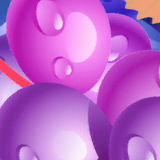 Purple balls Stock Images