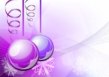 Purple balls Stock Image