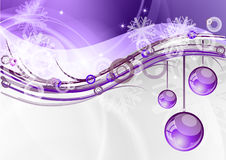 Purple balls. Christmas background with the purple balls Stock Photos