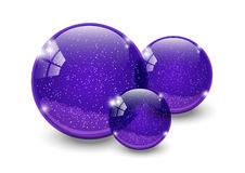Purple balls Royalty Free Stock Photography