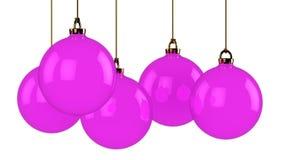 Purple balls Royalty Free Stock Photo