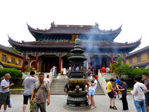 The purple bamboo grove Temple Stock Images
