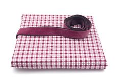 Purple band on a checked cloth Stock Photo