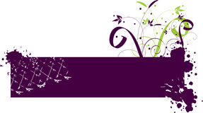 Purple banner Stock Photography