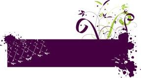 Purple banner Stock Photography
