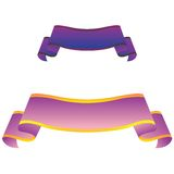 Purple banners isolated on white background Royalty Free Stock Image