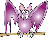 Purple bat Stock Photography