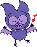 Purple bat dancing Stock Photos