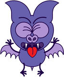 Purple bat feeling disgusted Royalty Free Stock Images
