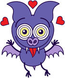 Purple bat madly in love Stock Photo