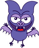 Purple bat in mischievous mood Royalty Free Stock Image