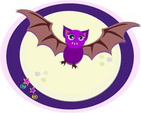 Purple Bat in Moonlight Royalty Free Stock Photography