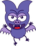 Purple bat in a very angry mood Royalty Free Stock Images