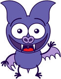 Purple bat waving and greeting Royalty Free Stock Photography