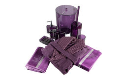 Purple bath set Royalty Free Stock Photo