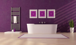 Purple bathroom Royalty Free Stock Image