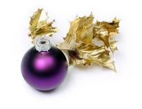 Purple bauble Stock Image