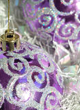 Purple Baubles Stock Photos