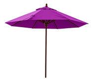 Purple beach umbrella Royalty Free Stock Photography